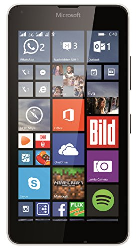 Microsoft Lumia 640 Dual-SIM Smartphone (5 Zoll (12,7 cm) Touch-Display, 8 GB Speicher, Windows 8.1) weiß