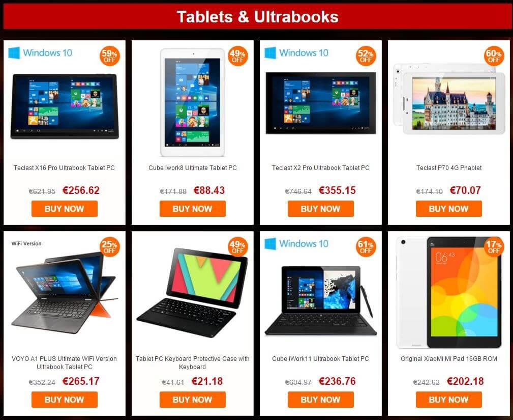 gearbest eu sale tablets