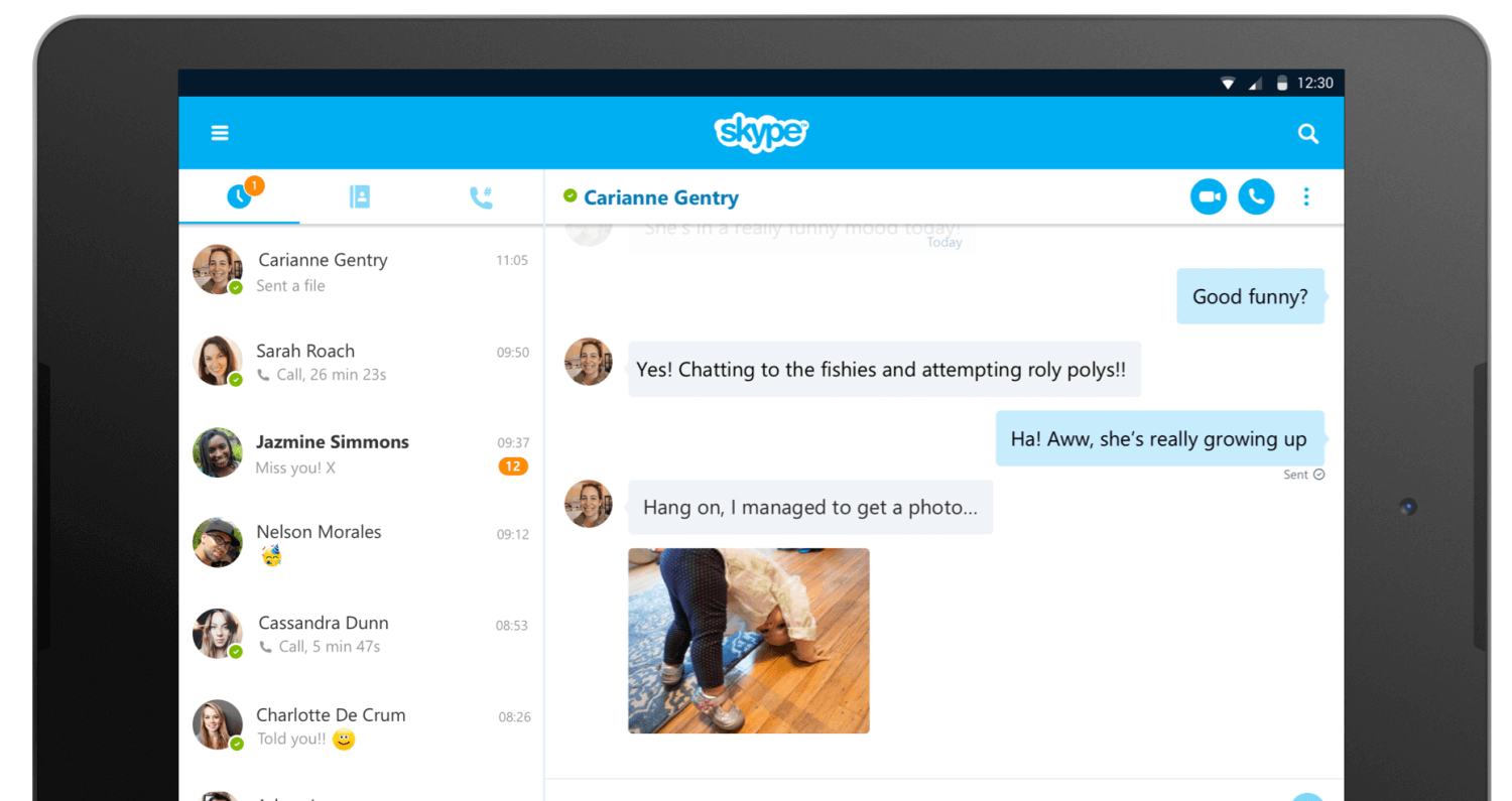 Skype 7 auf Android-Tablets
