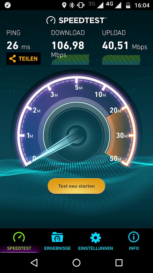Speedtest im LTE-Netz der Telekom
