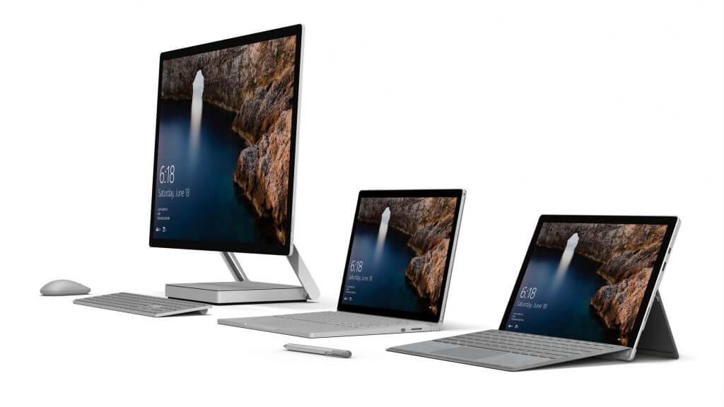 Surface Familie, Bild: Microsoft