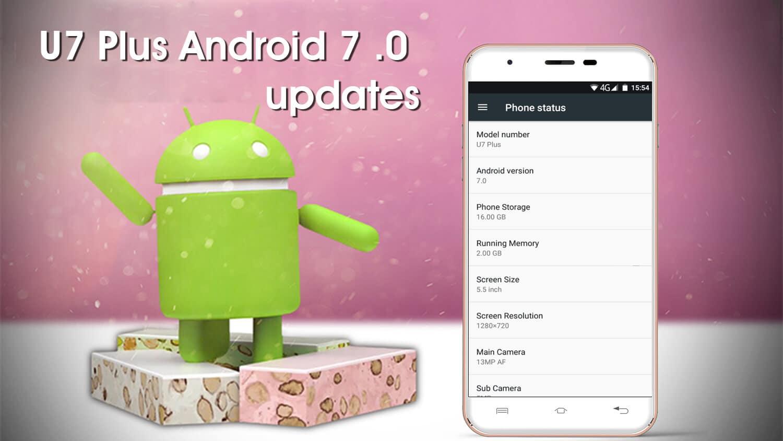 Android Nougat für das U7 Plus, Bild: Oukitel