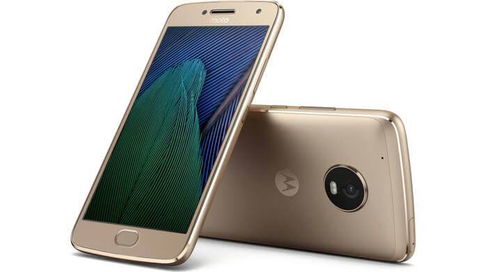 Moto G5 Plus Fine Gold, Bild: Lenovo