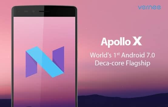 Vernee Apollo X mit Android 7.0 Nougat, Bild: Vernee