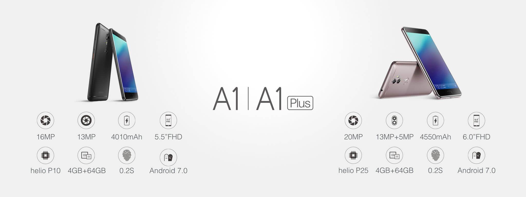 A1 und A1 Plus, Bild: Gionee