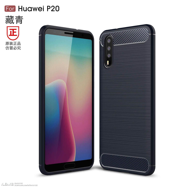 Huawei P20 Render Bild Zeigt Die Triple Kamera