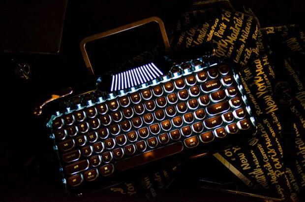 Rymek Retro Bluetooth Keyboard Hintgrundbeleuchtung
